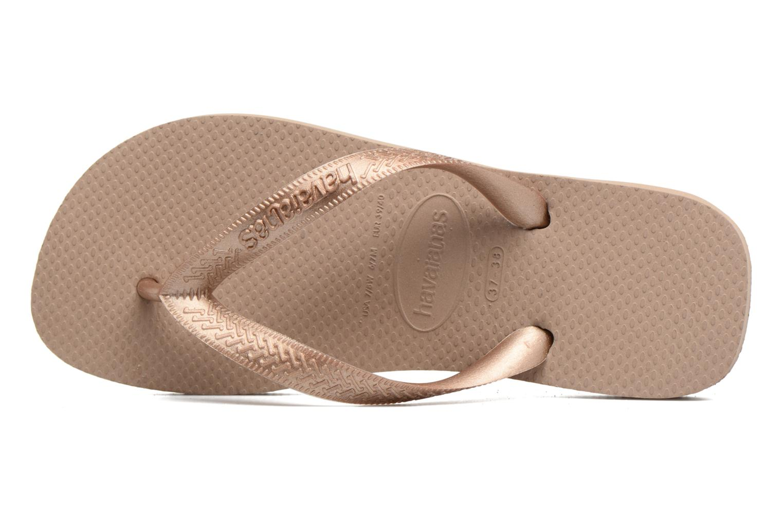 Flip flops Havaianas Top Tiras Brown view from the left