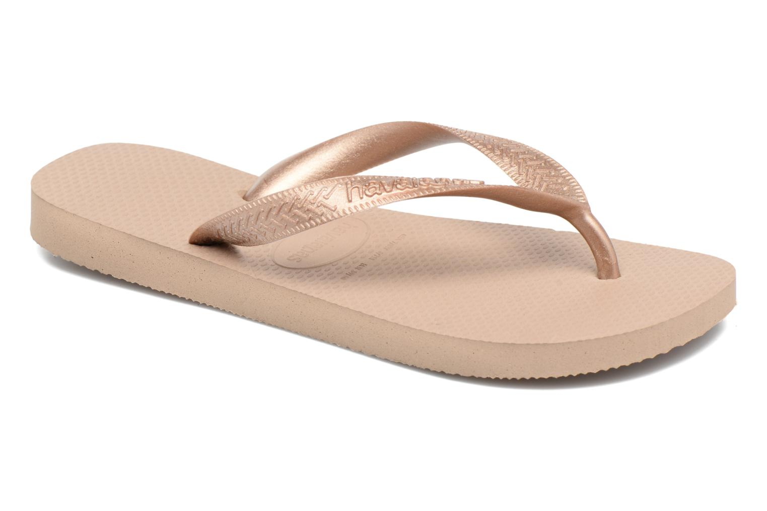 Flip flops Havaianas Top Tiras Brown detailed view/ Pair view
