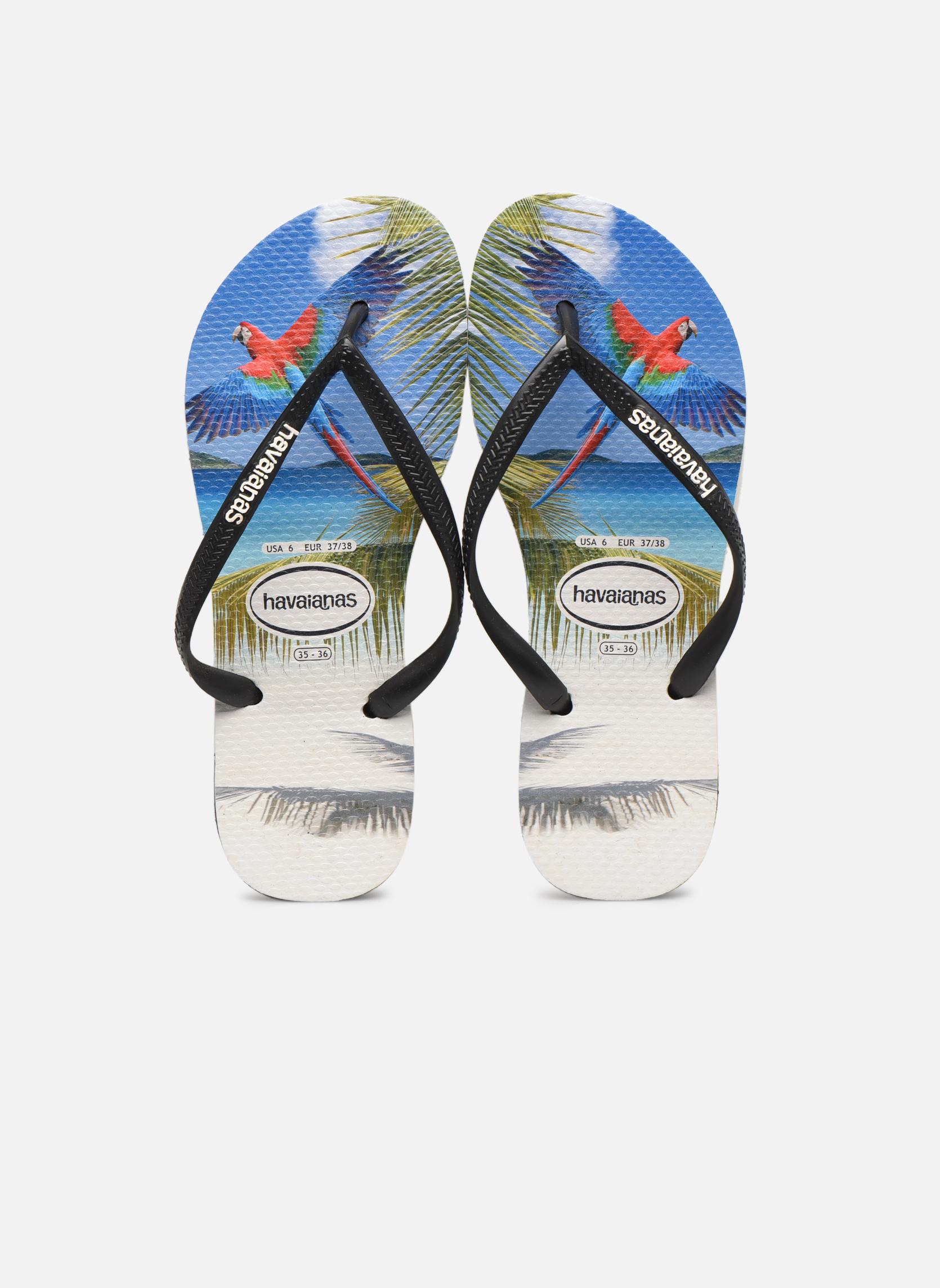 Flip flops Havaianas Buzios Black model view