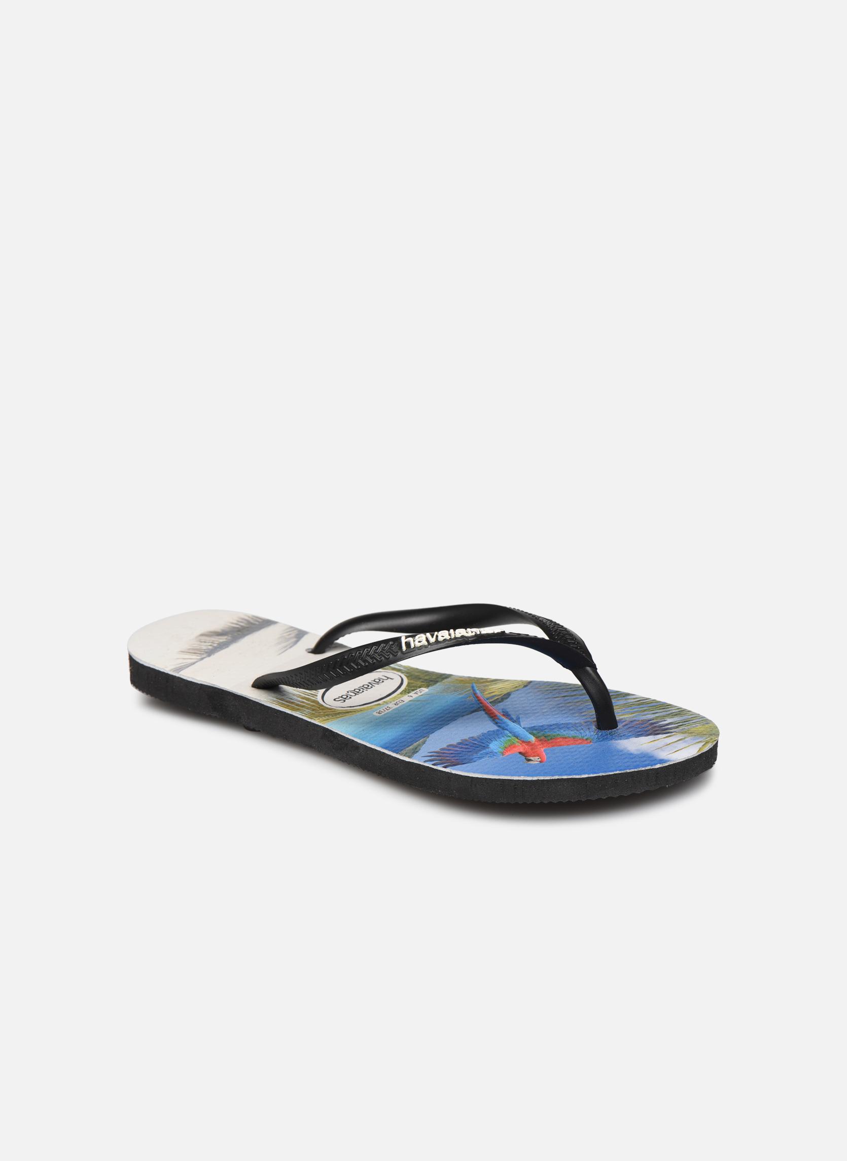 Flip flops Havaianas Buzios Black detailed view/ Pair view