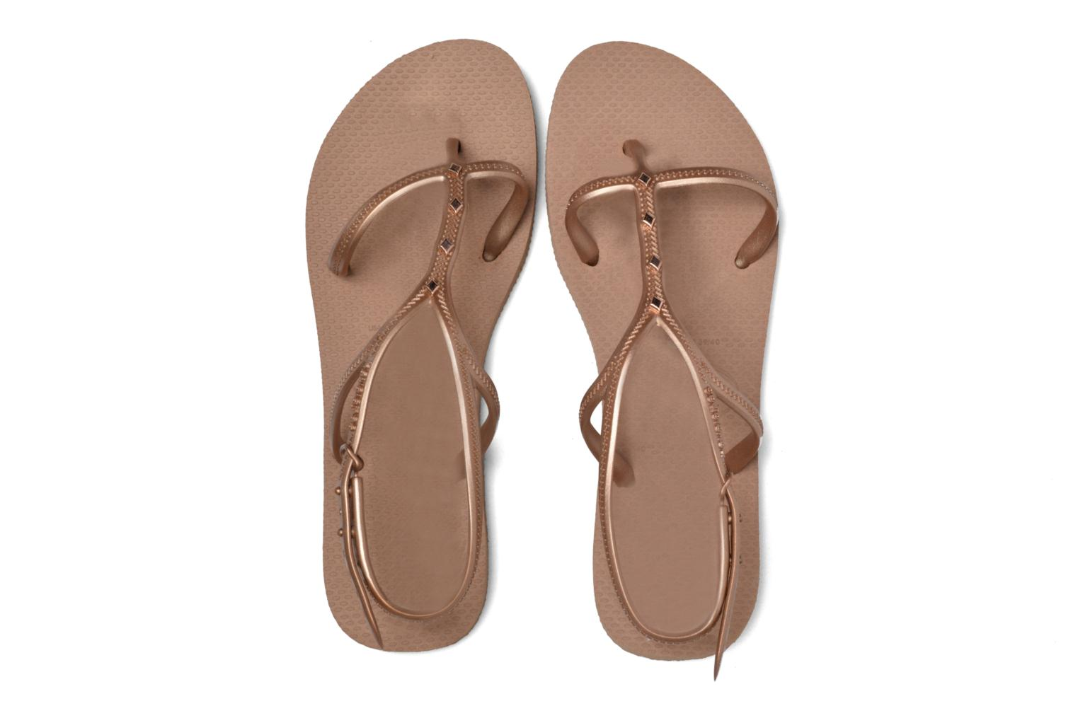 Sandals Havaianas Allure Maxi Brown 3/4 view