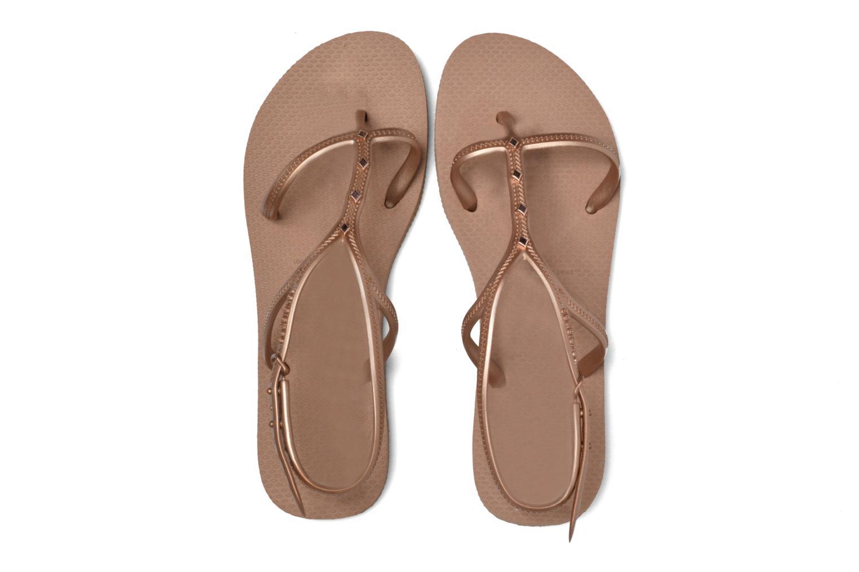 Sandales et nu-pieds Havaianas Allure Maxi Marron vue 3/4