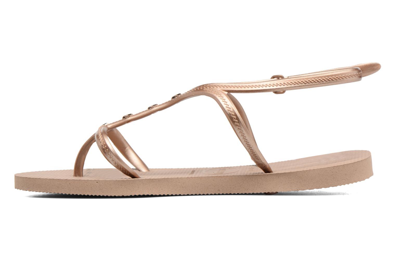 Sandales et nu-pieds Havaianas Allure Maxi Marron vue face