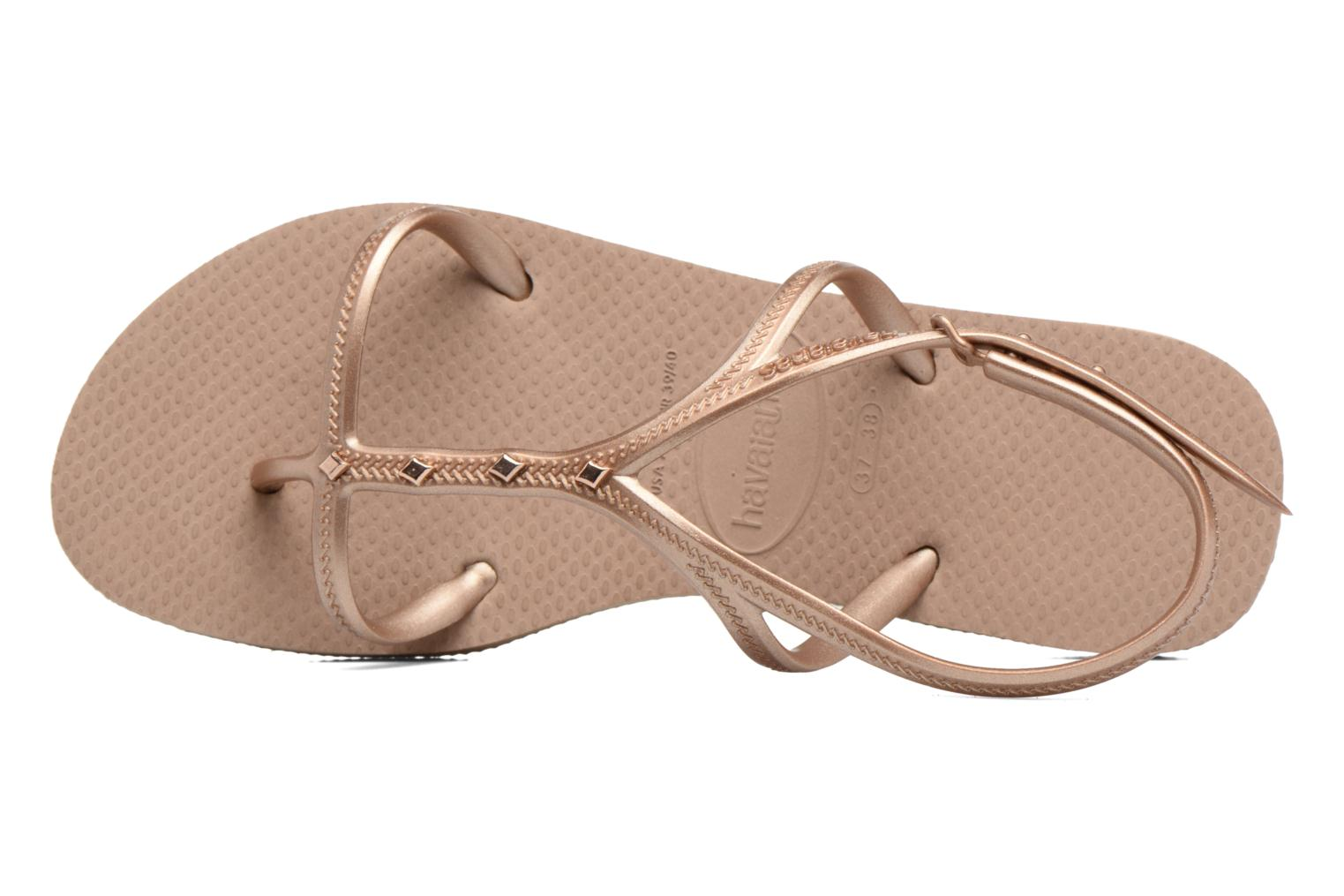 Sandals Havaianas Allure Maxi Brown view from the left