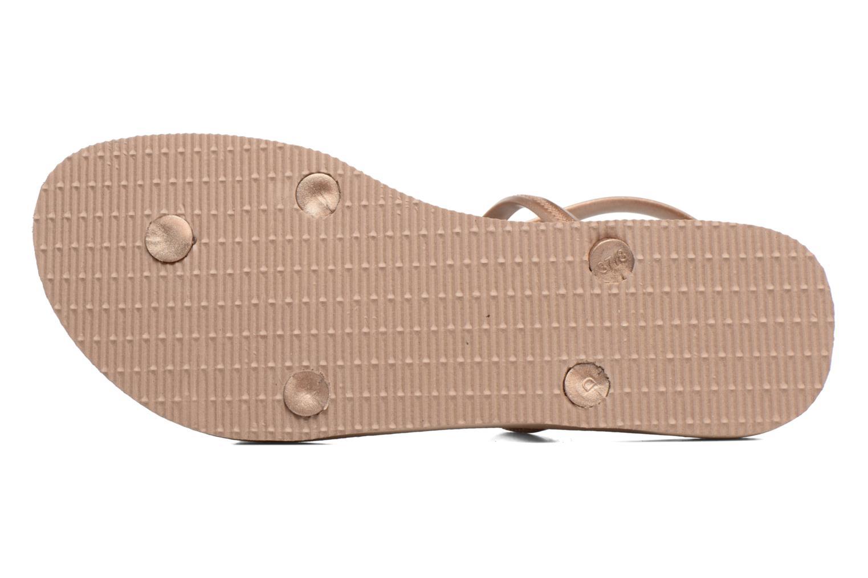 Sandales et nu-pieds Havaianas Allure Maxi Marron vue haut