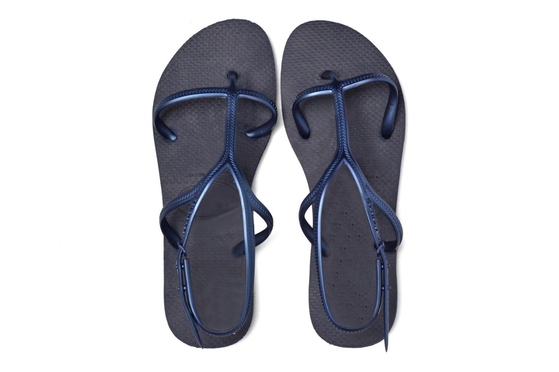 Sandales et nu-pieds Havaianas Allure Bleu vue 3/4