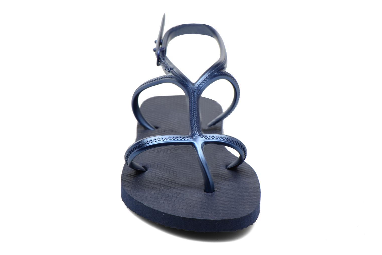 Sandales et nu-pieds Havaianas Allure Bleu vue portées chaussures