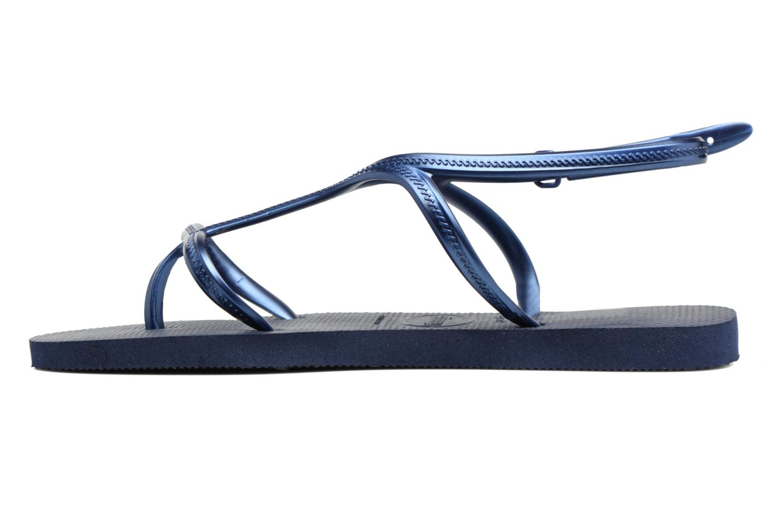 Sandales et nu-pieds Havaianas Allure Bleu vue face