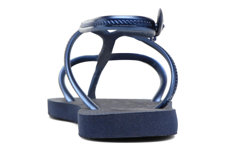 Sandales et nu-pieds Havaianas Allure Bleu vue droite