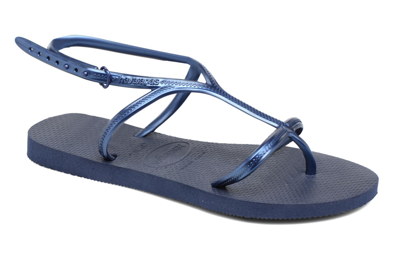 Sandals Havaianas Allure Blue detailed view/ Pair view