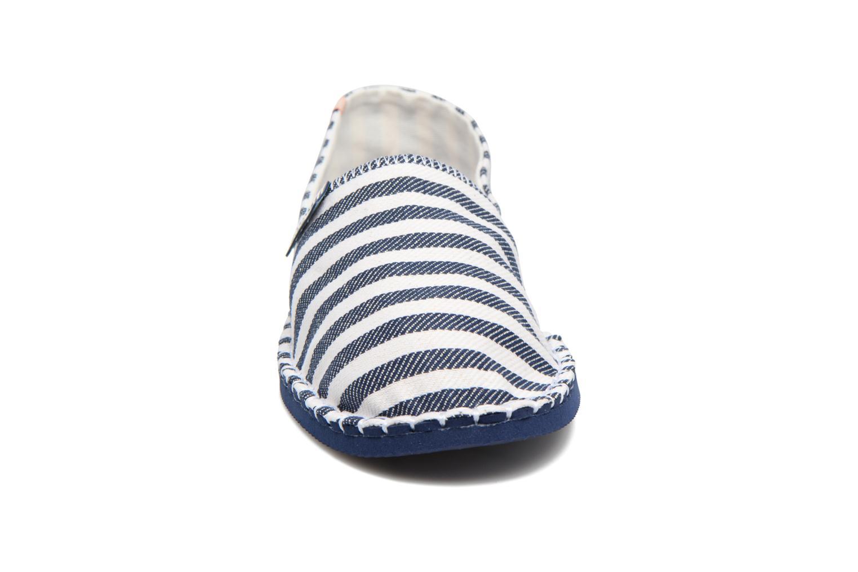 Espadrilles Havaianas Origine Listras Bleu vue portées chaussures