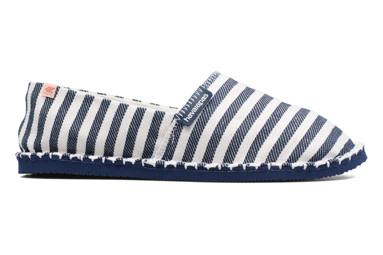 Scarpe di corda Havaianas Origine Listras Azzurro immagine posteriore
