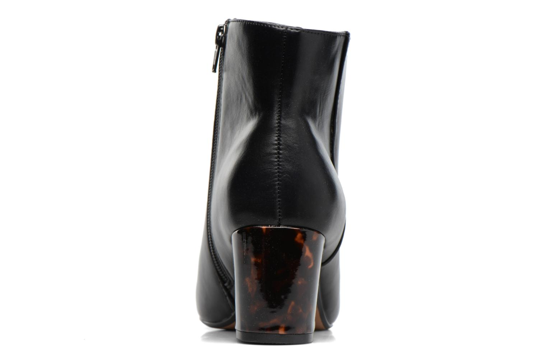 Mottled Heeled Boot Black