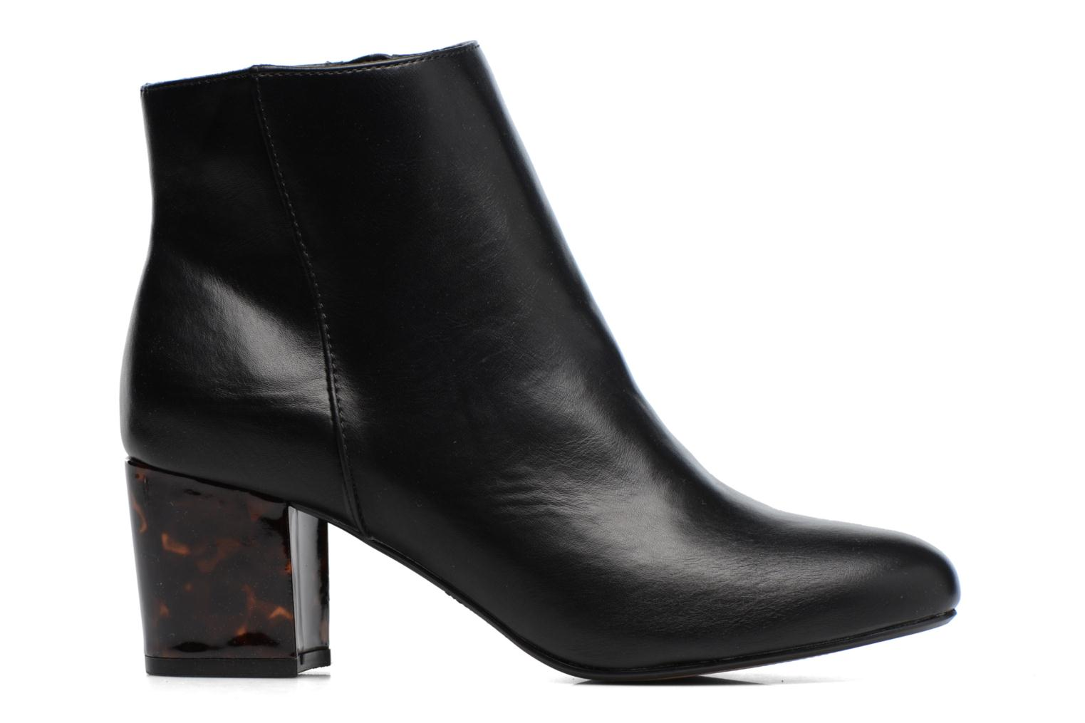 Mottled Heeled Boot Black