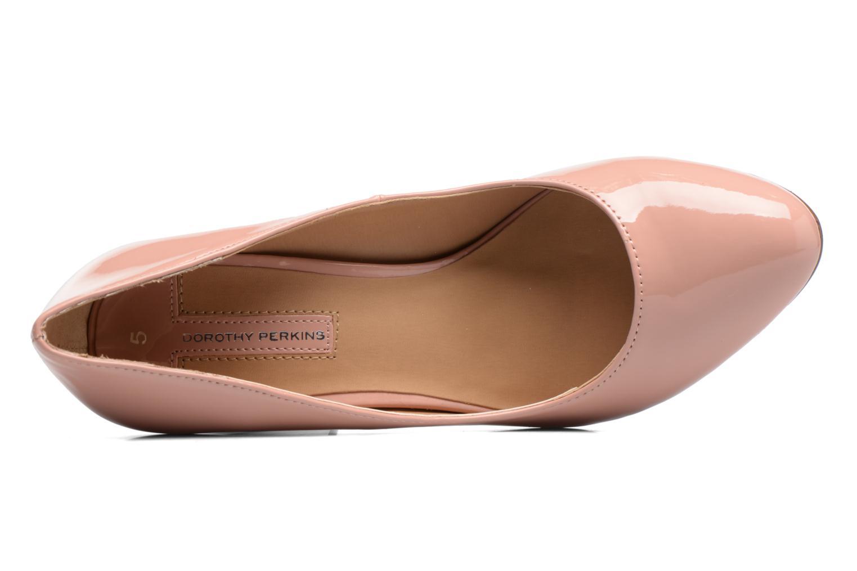 Zapatos de tacón Dorothy Perkins Dafney Rosa vista lateral izquierda
