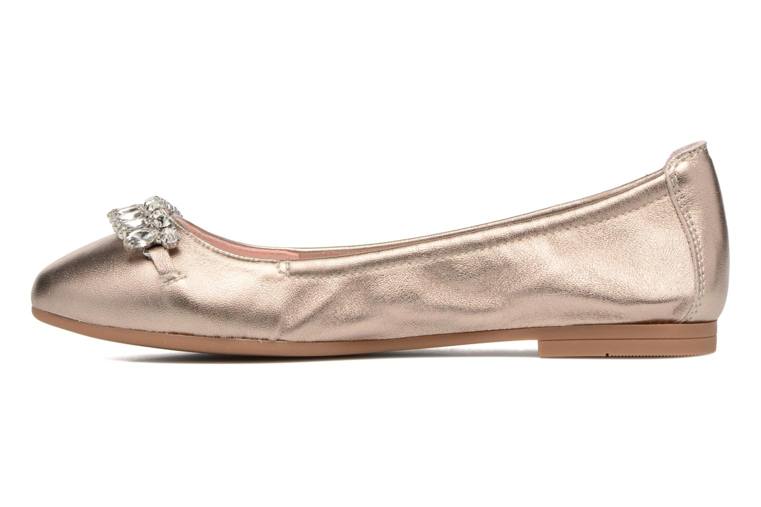 Ballet pumps Unisa Diamon Bronze and Gold front view