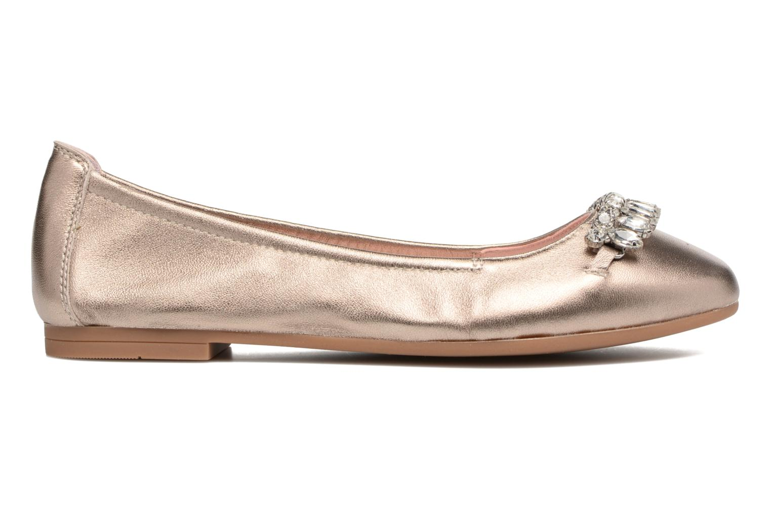 Ballet pumps Unisa Diamon Bronze and Gold back view