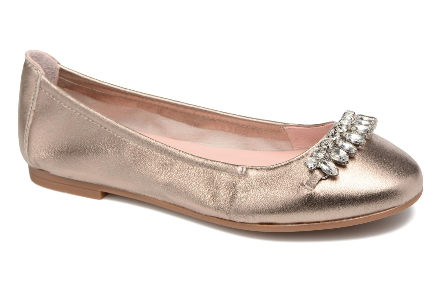 Ballet pumps Unisa Diamon Bronze and Gold detailed view/ Pair view