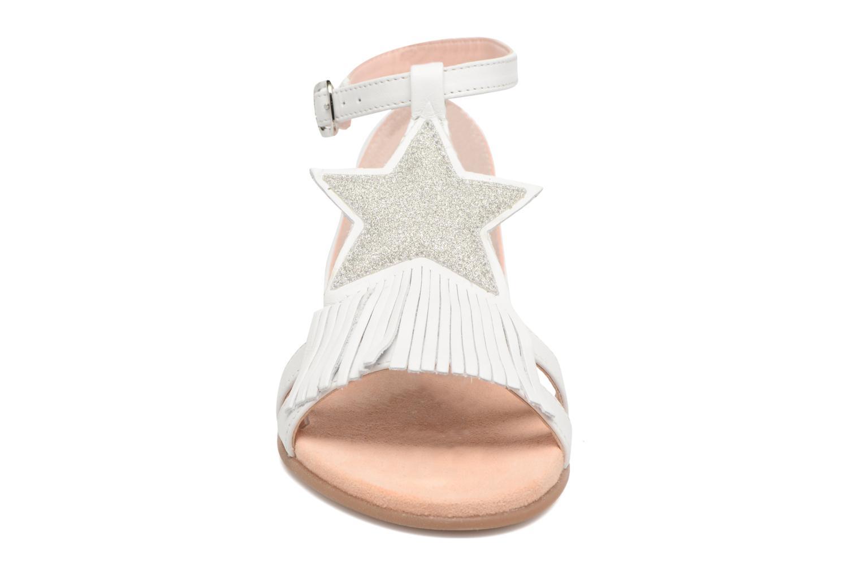 Sandales et nu-pieds Unisa Lestar Blanc vue portées chaussures