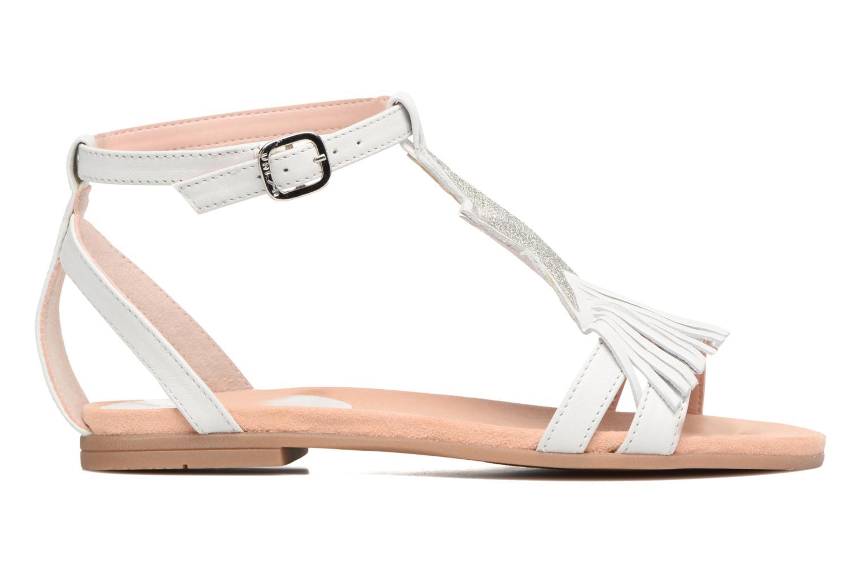 Sandales et nu-pieds Unisa Lestar Blanc vue derrière