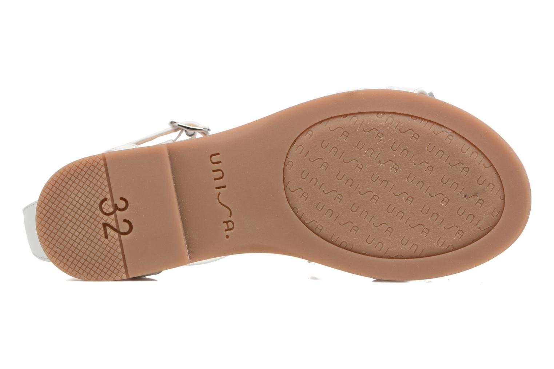 Sandales et nu-pieds Unisa Lestar Blanc vue haut