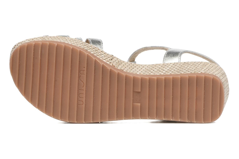 Sandales et nu-pieds Unisa Ticor Argent vue haut
