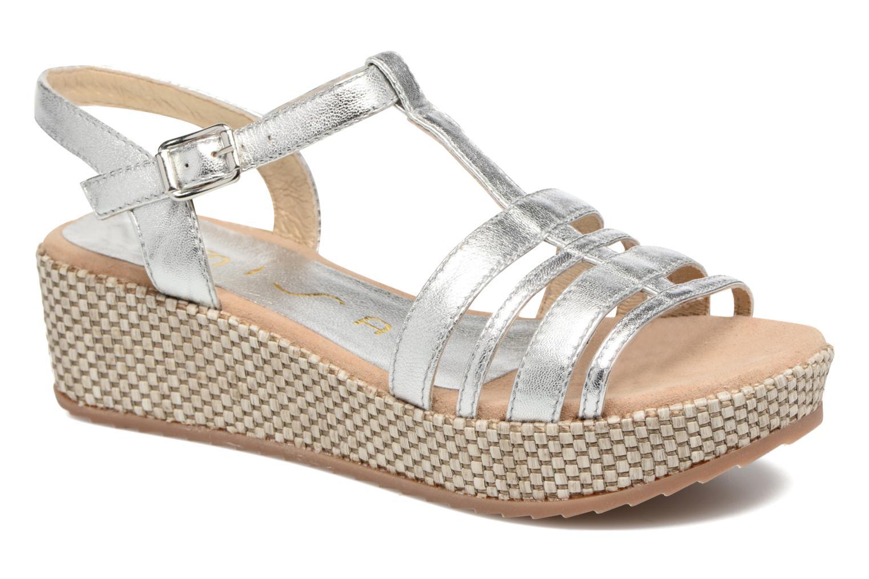 Sandales et nu-pieds Unisa Ticor Argent vue détail/paire