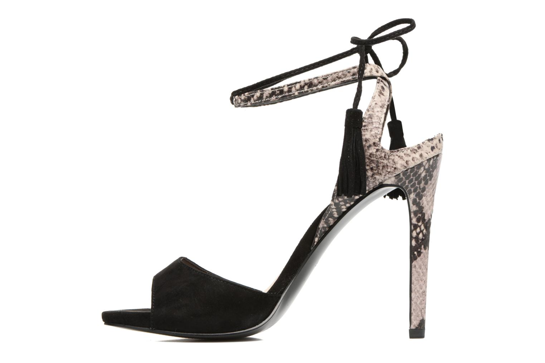 Sandales et nu-pieds Guess Amee Noir vue face