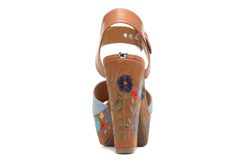 Sandales et nu-pieds Guess Caralin2 Marron vue droite