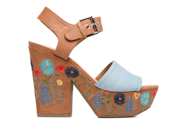 Sandales et nu-pieds Guess Caralin2 Marron vue derrière