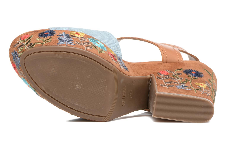 Sandales et nu-pieds Guess Caralin2 Marron vue haut
