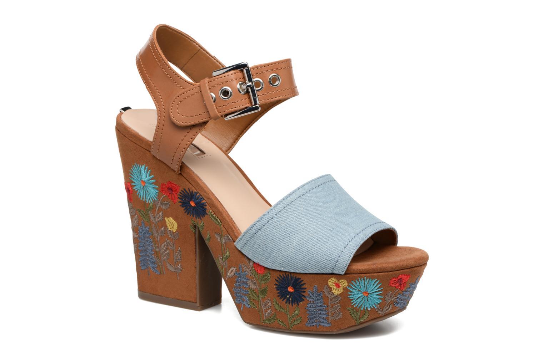 Sandales et nu-pieds Guess Caralin2 Marron vue détail/paire