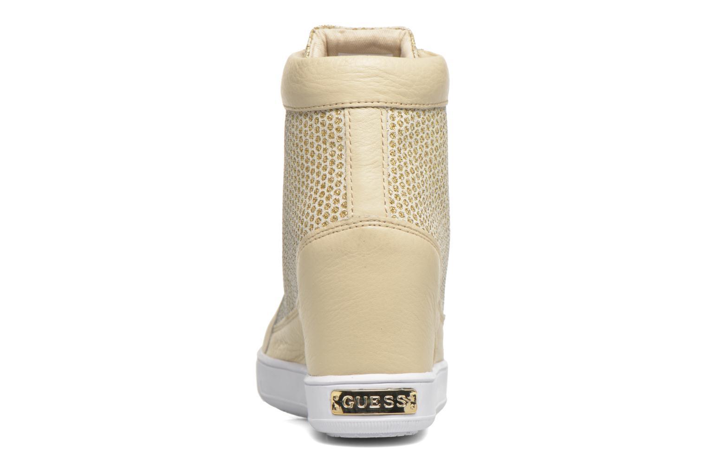 Sneakers Guess Furia Oro e bronzo immagine destra