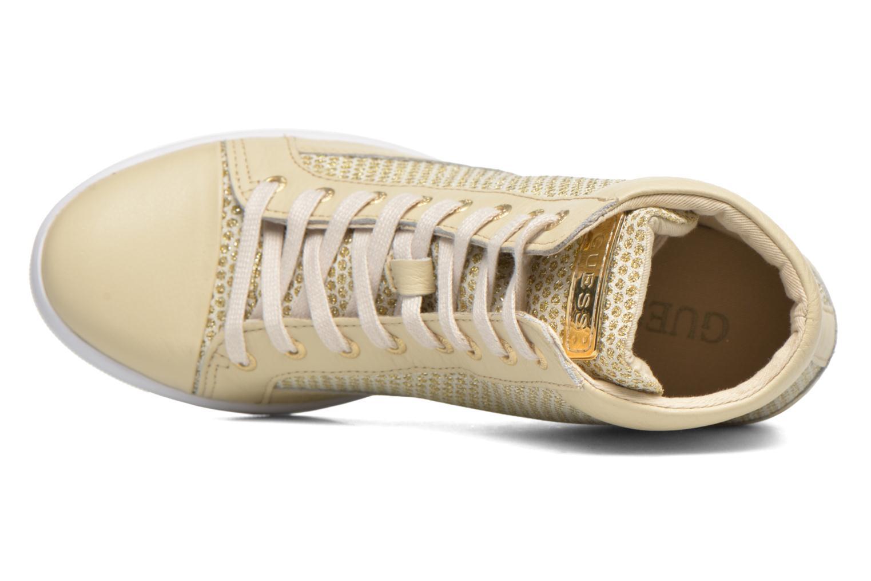 Sneakers Guess Furia Oro e bronzo immagine sinistra