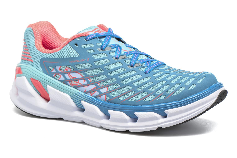 Chaussures de sport Hoka One One Vanquish 3 W Bleu vue détail/paire