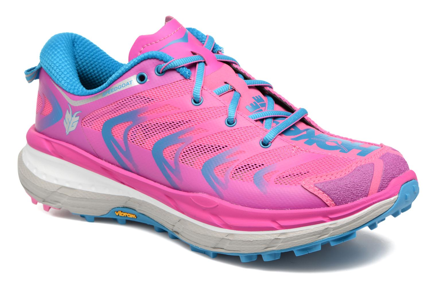 Chaussures de sport Hoka One One Speedgoat W Rose vue détail/paire