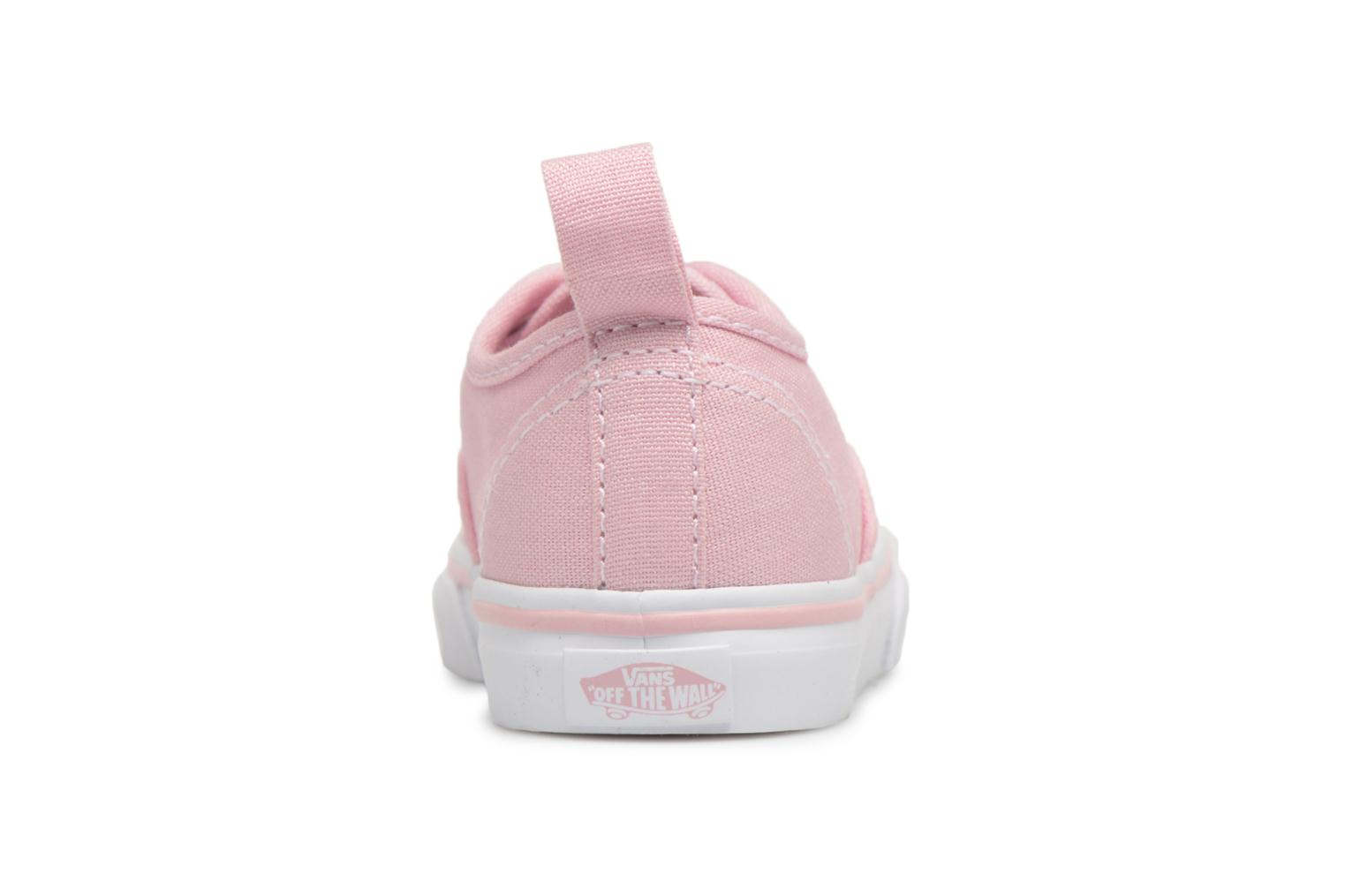 Baskets Vans Authentic Elastic Lace BB Rose vue derrière