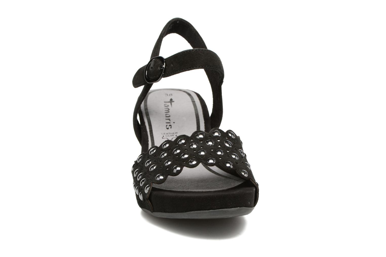 Sandales et nu-pieds Tamaris Oca Noir vue portées chaussures