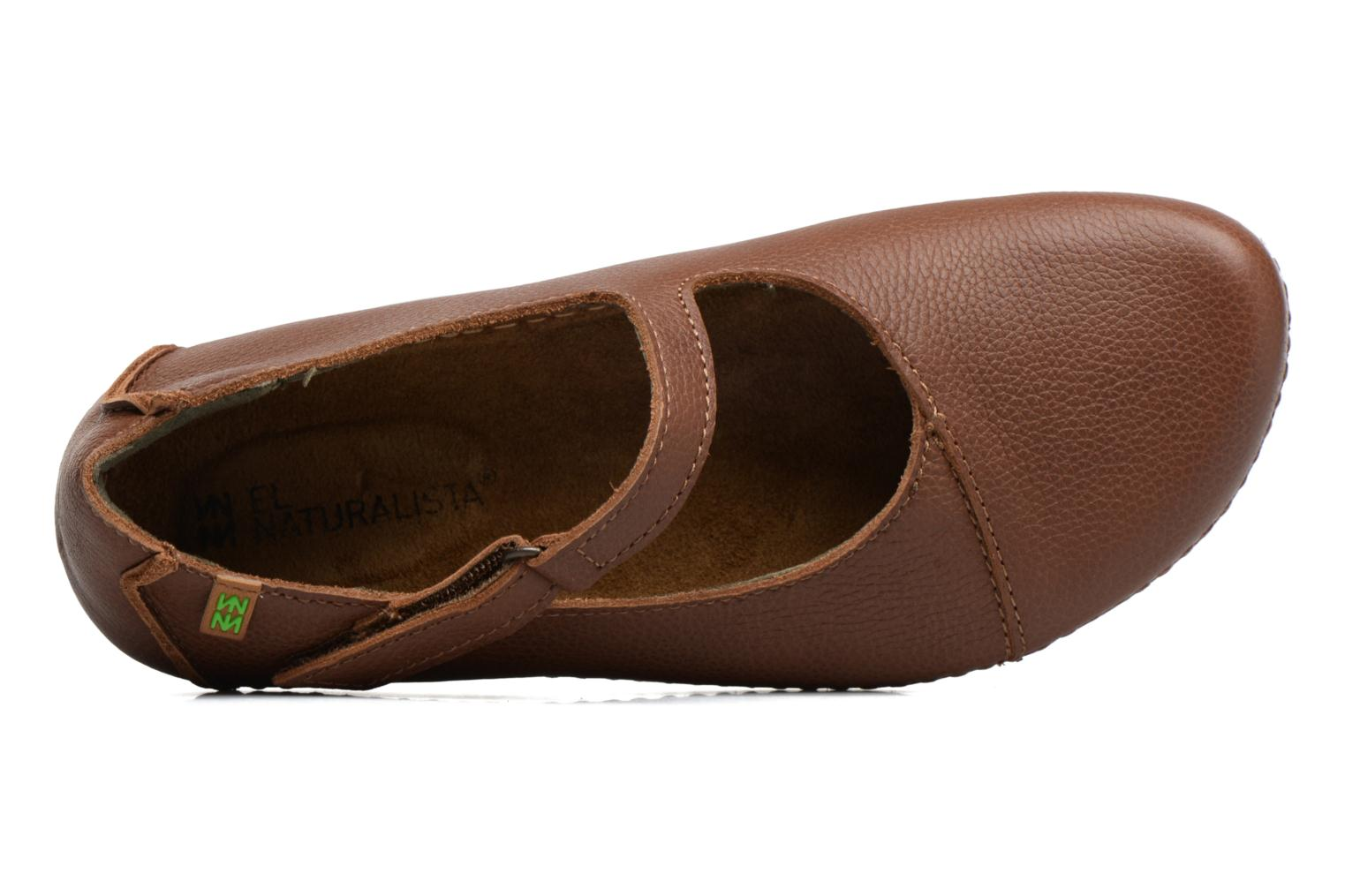 Ballet pumps El Naturalista Torcal N376 Brown view from the left