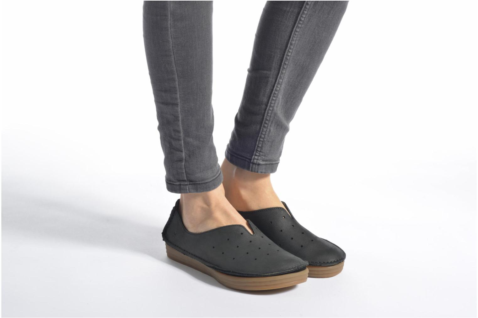Loafers El Naturalista Ricefield NF88 Black view from underneath / model view