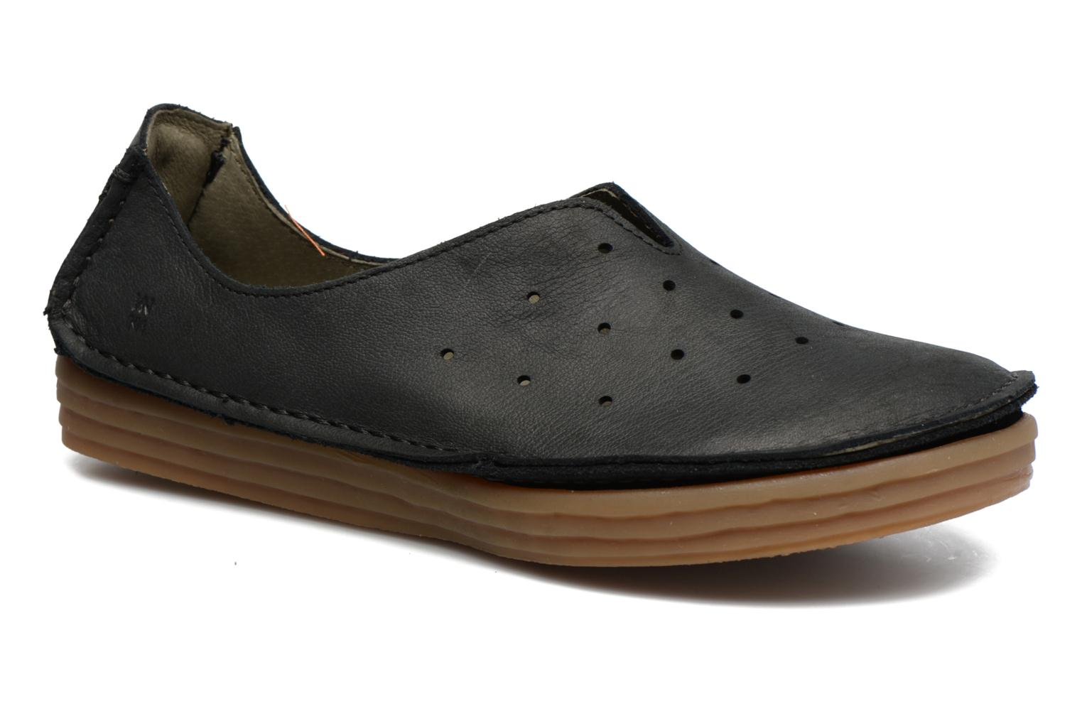 Loafers El Naturalista Ricefield NF88 Black detailed view/ Pair view