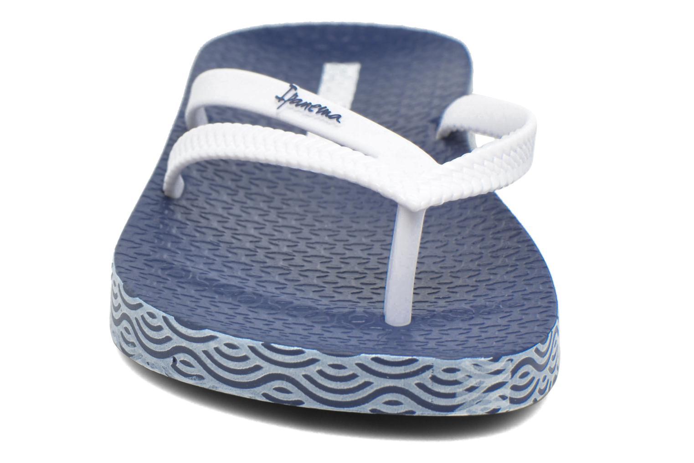Tongs Ipanema Bossa Soft Bleu vue portées chaussures