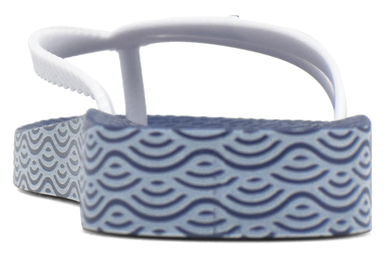 Tongs Ipanema Bossa Soft Bleu vue droite