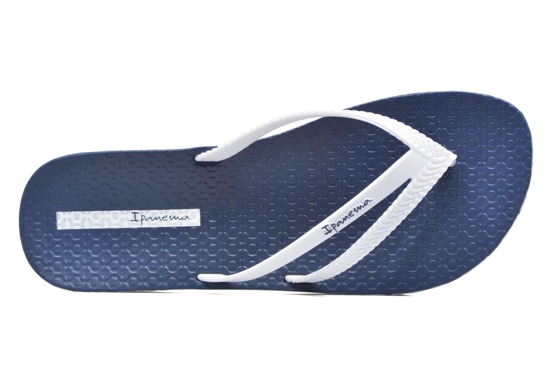 Tongs Ipanema Bossa Soft Bleu vue gauche
