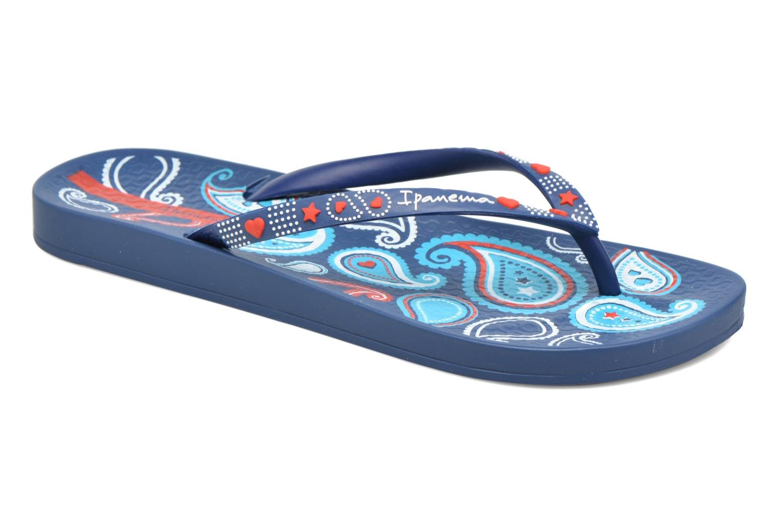 Flip flops Ipanema Anatomic Lovely VII Blue detailed view/ Pair view