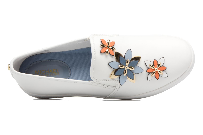 Sneakers Michael Michael Kors Heidi Slip On Bianco immagine sinistra