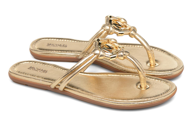 Flip flops Michael Michael Kors Kinley Thong Bronze and Gold 3/4 view