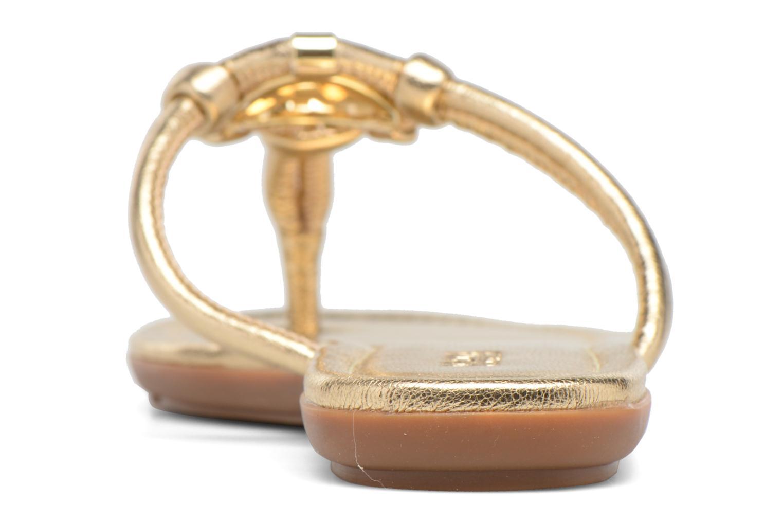 Infradito Michael Michael Kors Kinley Thong Oro e bronzo immagine destra