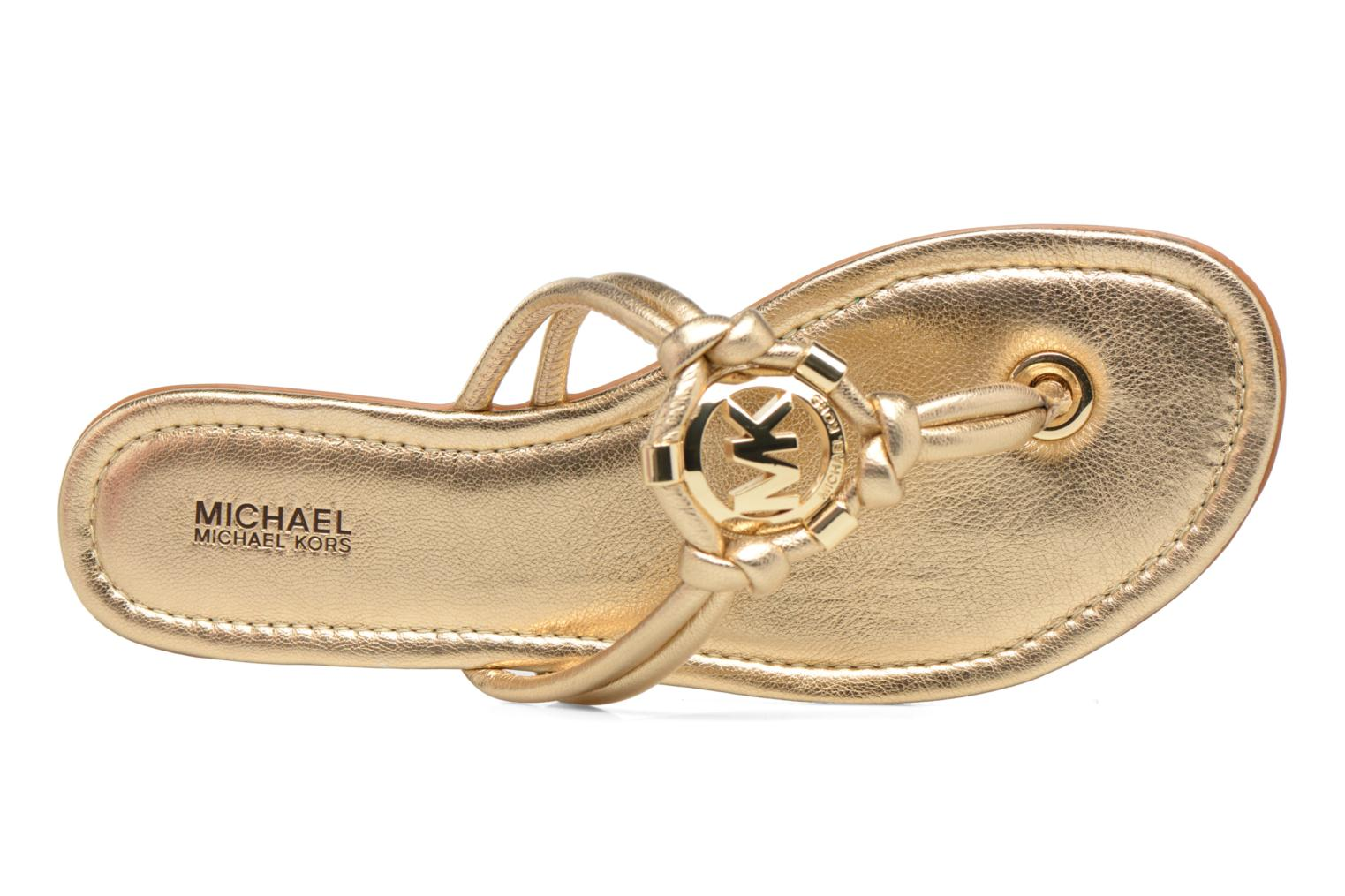 Flip flops Michael Michael Kors Kinley Thong Bronze and Gold view from the left