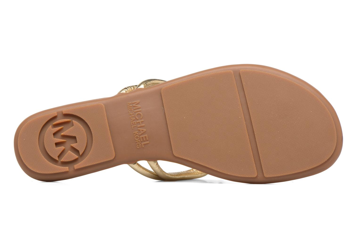 Flip flops Michael Michael Kors Kinley Thong Bronze and Gold view from above